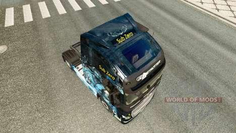A pele é o Sub-Zero na Volvo caminhões para Euro Truck Simulator 2