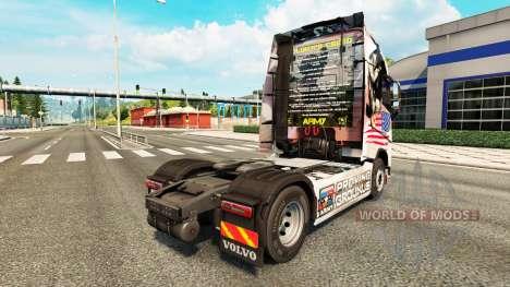 O U. S. Army pele para a Volvo caminhões para Euro Truck Simulator 2