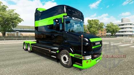 Pele Negra-verde-para caminhão Scania T para Euro Truck Simulator 2