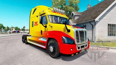Pele DHL para trator Freightliner Cascadia para American Truck Simulator