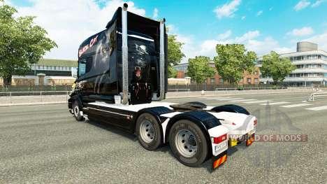 Gato preto de pele para a Scania T caminhão para Euro Truck Simulator 2