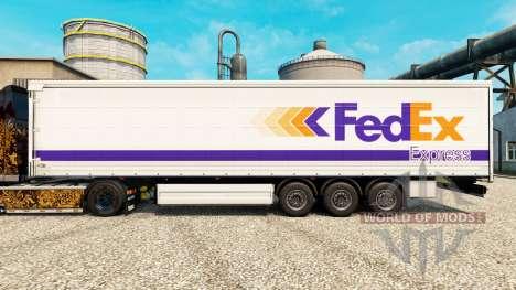 A FedEx pele para reboques para Euro Truck Simulator 2