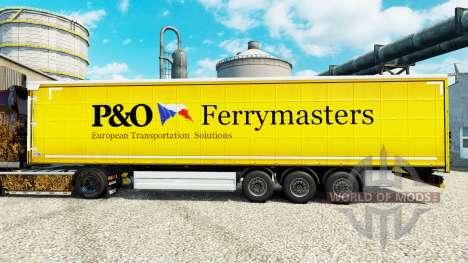 A pele da P&O Ferrymasters para reboques para Euro Truck Simulator 2