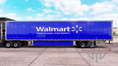 Pele Walmart estendida do trailer para American Truck Simulator