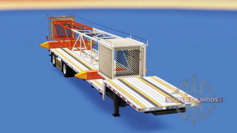 Baixa varrer com materiais de construção para American Truck Simulator