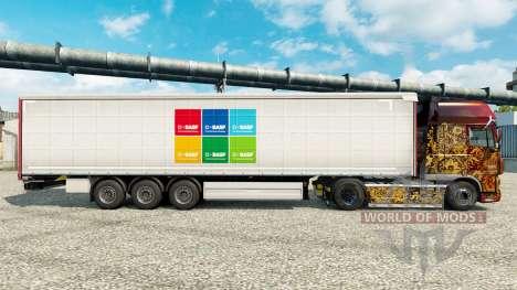 Pele BASF SE semi para Euro Truck Simulator 2