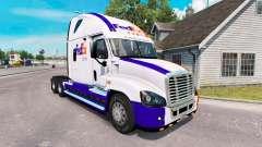 A pele da FedEx caminhão Freightliner Cascadia