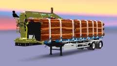 Um semi-reboque caminhão com carga Huttner