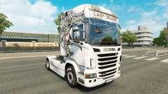 Pele Último Dragão no trator Scania