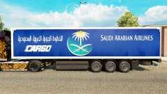 A pele Saudi Arabian Airlines para reboques