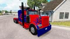 Optimus Prime skin para o caminhão Peterbilt 389