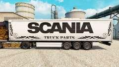 Pele branca Scania Truck Peças para semi-reboque