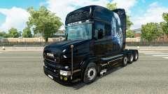 Branco Chita pele para caminhão Scania T
