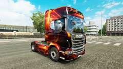 Incêndio Efeito de pele para o Scania truck