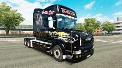 Gato preto de pele para a Scania T caminhão