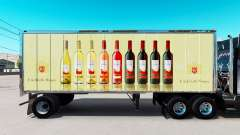 Pele E. & J. Gallo Winery no pequeno trailer
