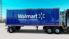 Pele Walmart no pequeno trailer