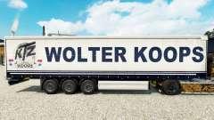 Wolter Koops pele para cortina semi-reboque
