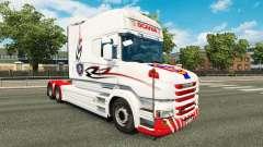 A pele branca para caminhão Scania T