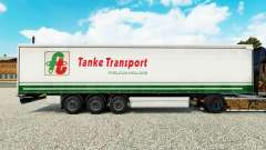 Pele Tanke de Transporte no semi-reboque cortina
