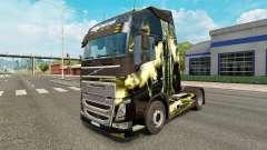 A pele da terrível tempestade na Volvo caminhões