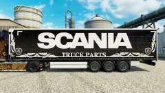 Pele Scania Truck Peças escuras para semi