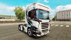 Produto de pele no trator Scania