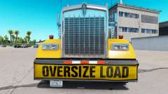 Pára-choques Oversize Load para o Kenworth W900