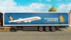 A Singapore Airlines pele para reboques