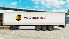 Pele de Logística UPS para reboques