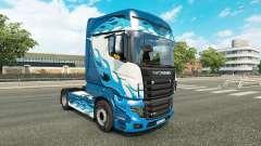 Chama azul da pele para a Scania caminhão R700
