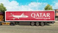 A Qatar Airways pele para reboques