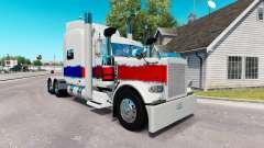Pele Pérola no caminhão Peterbilt 389