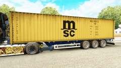 Semi-reboque-o navio de contentores MSC Remo Ser