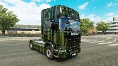 Listras verdes pele para o Scania truck