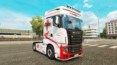 Duques de Transporte de pele para a Scania camin