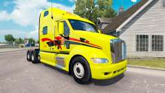 Pele Decker no trator Peterbilt 387