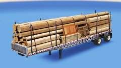 Semi-reboque-plataforma com diferentes cargas v3