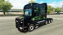 Pele Monster Energy v2 para o caminhão Scania T