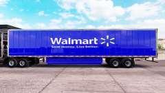 Pele Walmart estendida do trailer