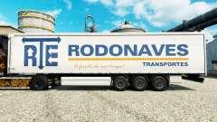 A RTE Rodonaves Transportes pele para reboques