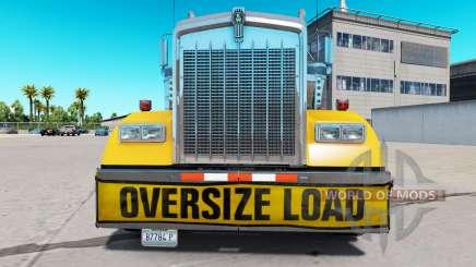Pára-choques Oversize Load para o Kenworth W900 para American Truck Simulator