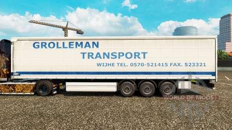 Pele Grolleman de Transporte no semi-reboque cor para Euro Truck Simulator 2