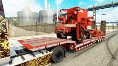 Baixa varrer com máquinas agrícolas