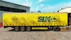 Pele SLK Kock GmbH em uma cortina semi-reboque