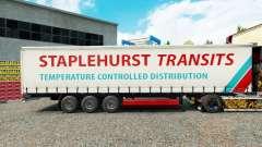 Staplehurst Trânsitos de pele no trailer cortina