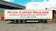 Pele de Peter Carter Transporte na cortina semi-