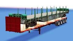 Uma coleção de trailers com diferentes cargas v4