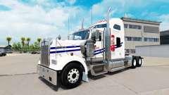 A pele em Tecate caminhão Kenworth W900
