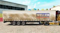 Weller Spedition pele no trailer cortina